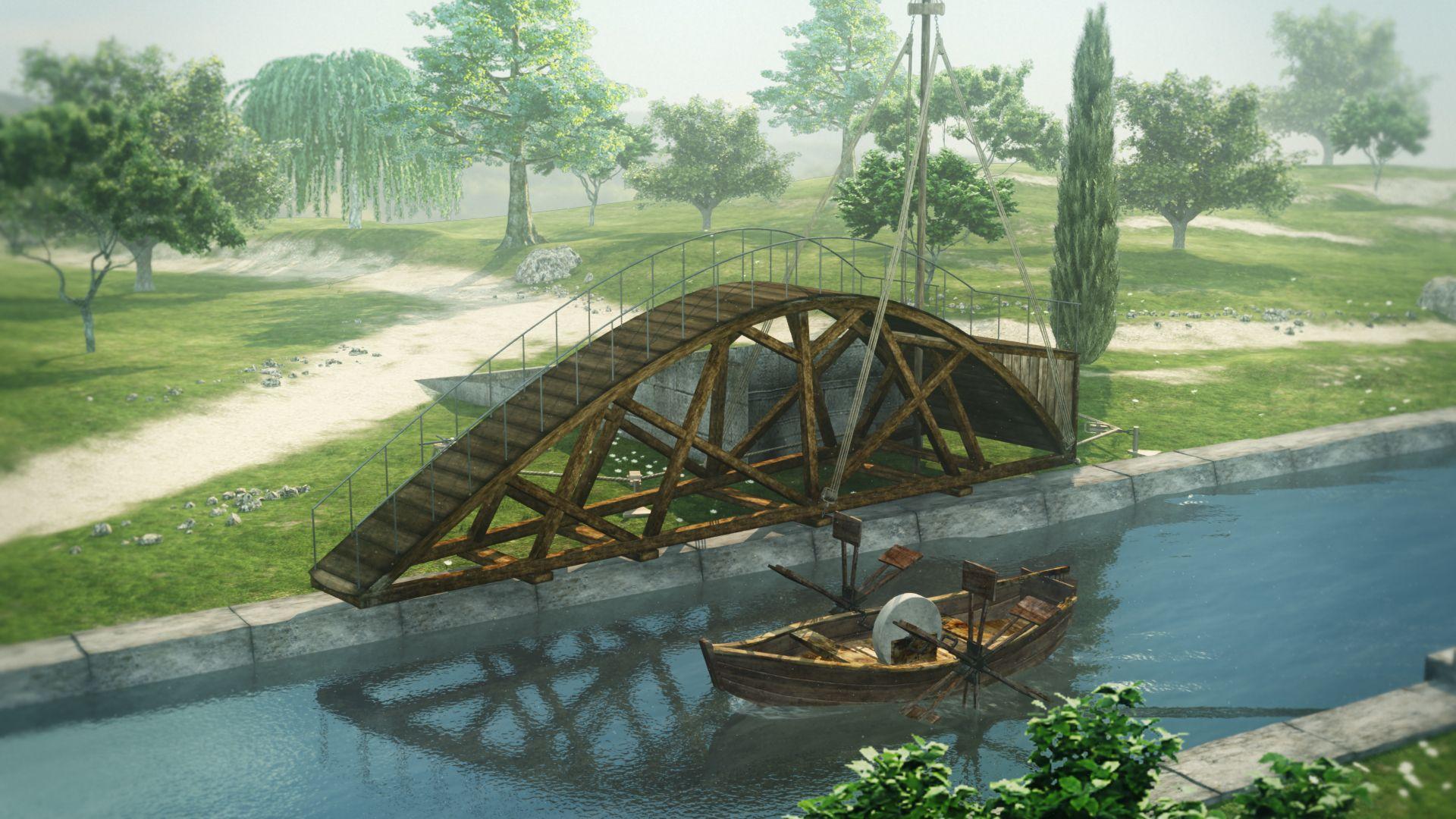 Les machines de l onard ch teau du clos luc amboise - Pont leonard de vinci ...